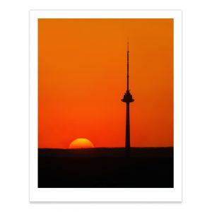 fotografija; printas; foto paveikslas; pirkti; fotografijos printas; arturas jendovickis; jendovickis; peizazas; landscape; tv bokstas; televizijos bokstas; saulelydis; siluetas; silhouette; tv tower;